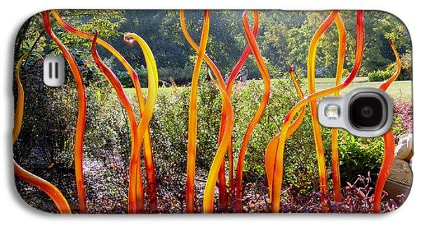 Garden Scene Galaxy S4 Cases - Chihuily at Cheekwood Galaxy S4 Case by Kae Cheatham