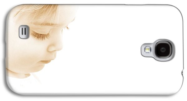 Contemplative Photographs Galaxy S4 Cases - Child Looking Down Galaxy S4 Case by Chris and Kate Knorr