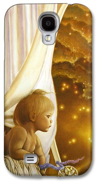 Innocence Paintings Galaxy S4 Cases - Child of Wonder Galaxy S4 Case by Michael Z Tyree