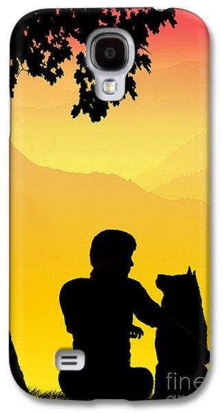 Sun Drawings Galaxy S4 Cases - Childhood dreams 4 Best Friends Galaxy S4 Case by John Edwards