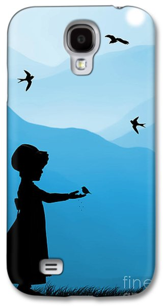 Sun Drawings Galaxy S4 Cases - Childhood dreams 5 Feeding Time Galaxy S4 Case by John Edwards