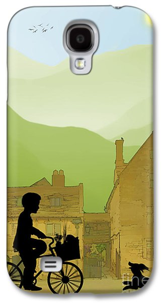 Dogs Digital Galaxy S4 Cases - Childhood Dreams Special Delivery Galaxy S4 Case by John Edwards