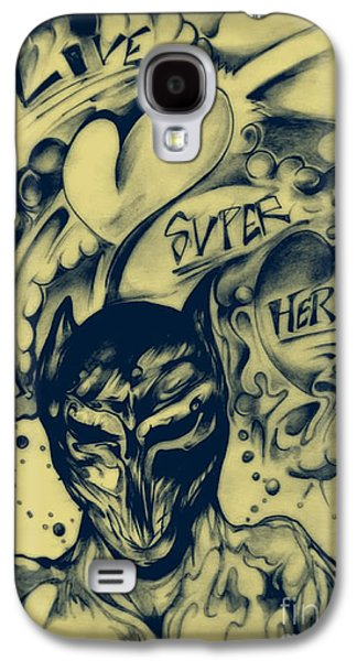 Abstract Digital Drawings Galaxy S4 Cases - Childhood LOVE Galaxy S4 Case by Daniel Brummitt
