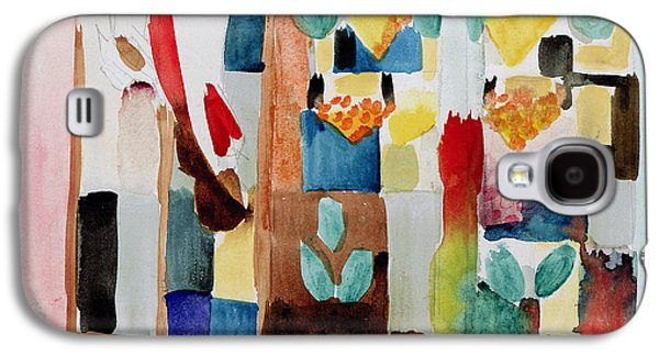 Grocery Store Galaxy S4 Cases - Children at the Greengrocers I Galaxy S4 Case by Franz Marc