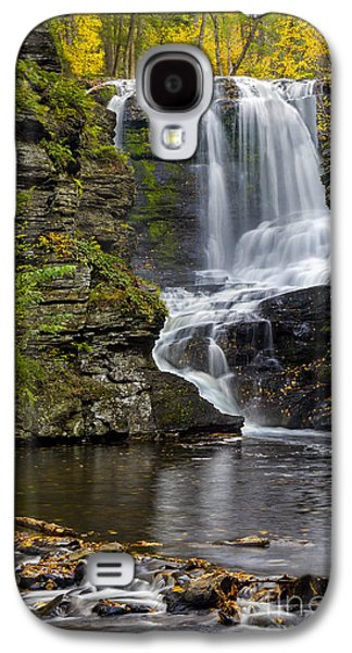 Susan Candelario Galaxy S4 Cases - Childs Park Waterfall Galaxy S4 Case by Susan Candelario