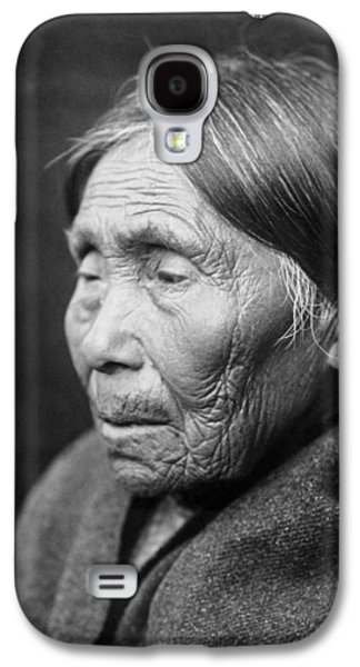 Gray Hair Galaxy S4 Cases - Chimakum Indian woman circa 1913 Galaxy S4 Case by Aged Pixel