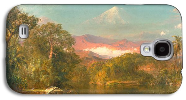 Snow Capped Galaxy S4 Cases - Chimborazo Galaxy S4 Case by Frederic Edwin Church