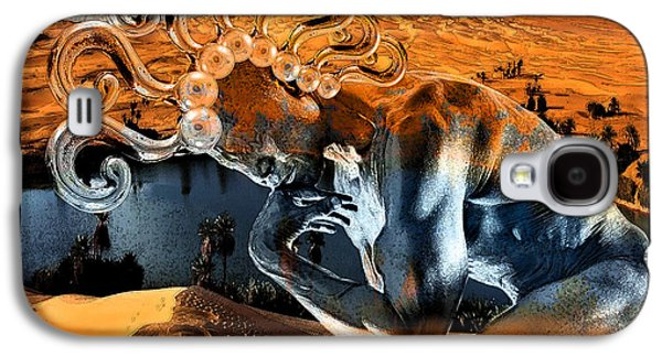 Digital Collage Galaxy S4 Cases - Chimera  Galaxy S4 Case by Marian Voicu