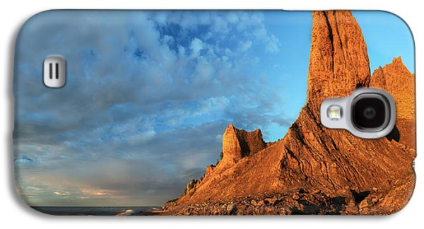 Colorful Cloud Formations Galaxy S4 Cases - Chimney Bluffs 2 Galaxy S4 Case by Mark Papke