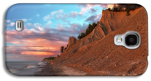 Colorful Cloud Formations Galaxy S4 Cases - Chimney Bluffs 3 Galaxy S4 Case by Mark Papke