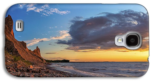 Colorful Cloud Formations Galaxy S4 Cases - Chimney Bluffs Galaxy S4 Case by Mark Papke