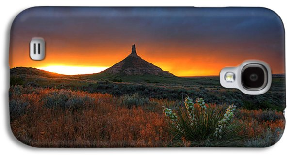Chimneys Galaxy S4 Cases - Chimney Rock Sunset Galaxy S4 Case by Chris  Allington