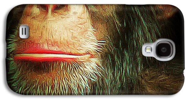 Contemplative Photographs Galaxy S4 Cases - Chimp 20150210brun v3 square Galaxy S4 Case by Wingsdomain Art and Photography