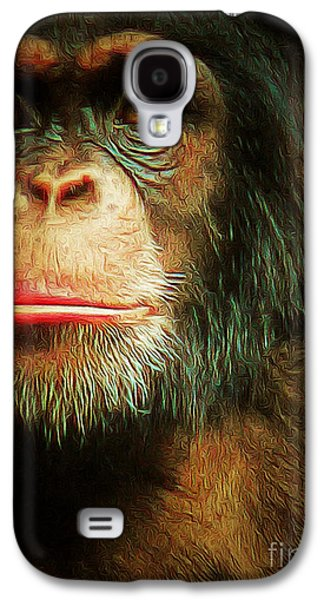 Gorilla Digital Galaxy S4 Cases - Chimp 20150210brun v3 Galaxy S4 Case by Wingsdomain Art and Photography