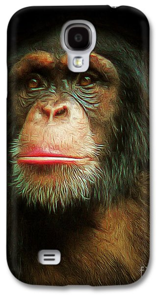 Gorilla Digital Galaxy S4 Cases - Chimp 20150210brun Galaxy S4 Case by Wingsdomain Art and Photography