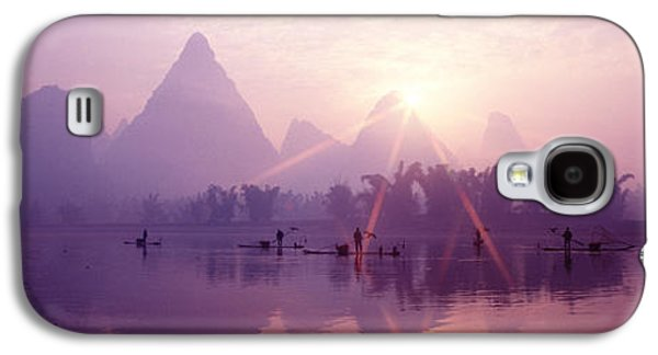 Wetlands Galaxy S4 Cases - China, Guilin, Fishermen Galaxy S4 Case by Panoramic Images