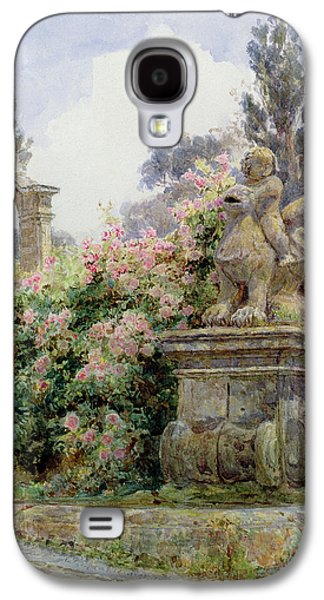 China Roses Villa Imperiali Genoa Galaxy S4 Case by George Samuel Elgood