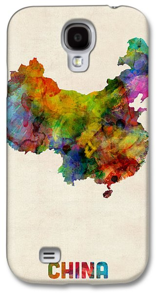Maps - Galaxy S4 Cases - China Watercolor Map Galaxy S4 Case by Michael Tompsett