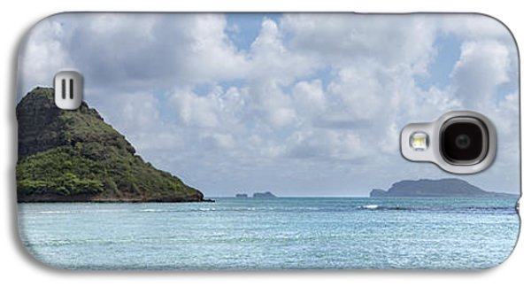 Landmarks Photographs Galaxy S4 Cases - Chinamans Hat Panorama - Oahu Hawaii Galaxy S4 Case by Brian Harig