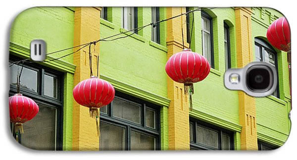Beach Landscape Galaxy S4 Cases - Chinatown Lanterns I Galaxy S4 Case by Chris Andruskiewicz
