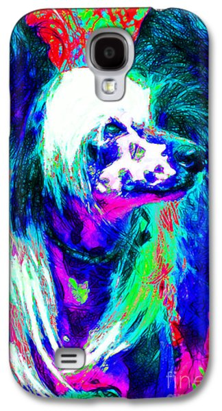 Puppy Digital Art Galaxy S4 Cases - Chinese Crested Dog 20130125v3 Galaxy S4 Case by Wingsdomain Art and Photography