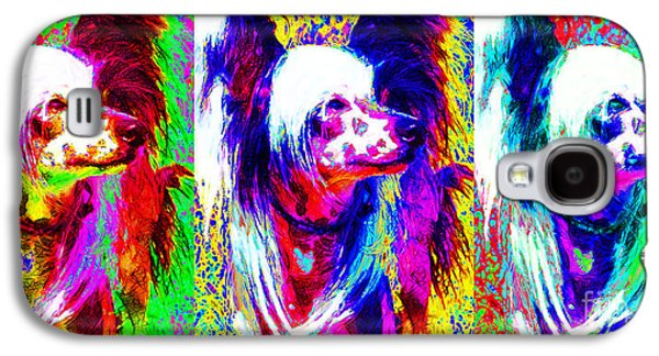Puppy Digital Art Galaxy S4 Cases - Chinese Crested Dog Three 20130125 Galaxy S4 Case by Wingsdomain Art and Photography