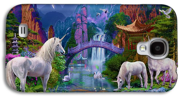 Extinct And Mythical Digital Art Galaxy S4 Cases - Chinese Unicorns Galaxy S4 Case by Jan Patrik Krasny