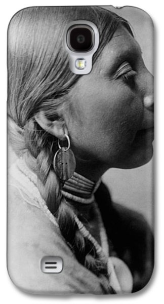 Braids Galaxy S4 Cases - Chinookan indian woman circa 1910 Galaxy S4 Case by Aged Pixel