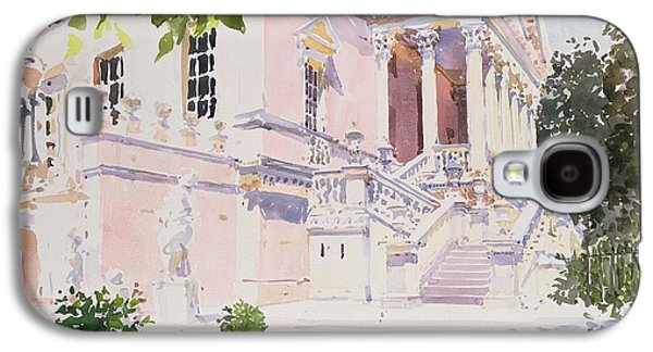 Garden Scene Drawings Galaxy S4 Cases - Chiswick House Galaxy S4 Case by Lucy Willis