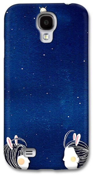 Sunny Mixed Media Galaxy S4 Cases - Chit Chat Galaxy S4 Case by Yoyo Zhao
