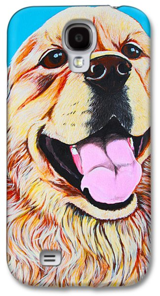 Dog Close-up Paintings Galaxy S4 Cases - Chloe Galaxy S4 Case by Lina Tricocci