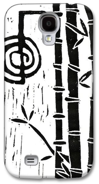 Lino-cut Galaxy S4 Cases - Cho Ku Rei and Bamboo Galaxy S4 Case by Lynn-Marie Gildersleeve