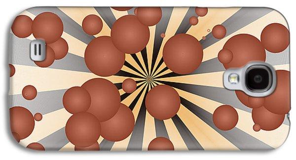 Geometric Digital Art Galaxy S4 Cases - Chocolate balls Galaxy S4 Case by Gaspar Avila