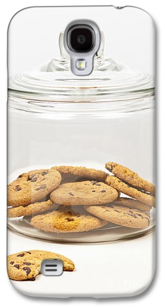 Biting Galaxy S4 Cases - Chocolate chip cookies in jar Galaxy S4 Case by Elena Elisseeva
