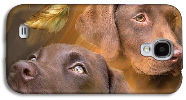 Chocolate Labrador Retriever Galaxy S4 Cases - Chocolate Lab Galaxy S4 Case by Carol Cavalaris