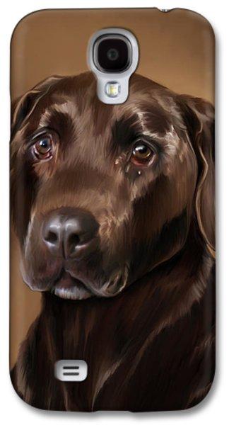 Chocolate Lab Digital Art Galaxy S4 Cases - Chocolate Lab Galaxy S4 Case by Michael Spano