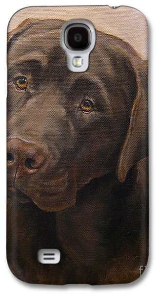 Chocolate Labrador Retriever Portrait Galaxy S4 Case by Amy Reges