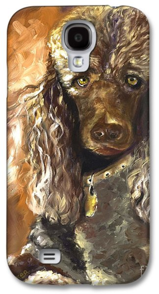 Poodle Galaxy S4 Cases - Chocolate Poodle Galaxy S4 Case by Susan A Becker