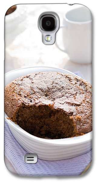 Table Cloth Galaxy S4 Cases - Chocolate Sponge Pudding Galaxy S4 Case by Amanda And Christopher Elwell