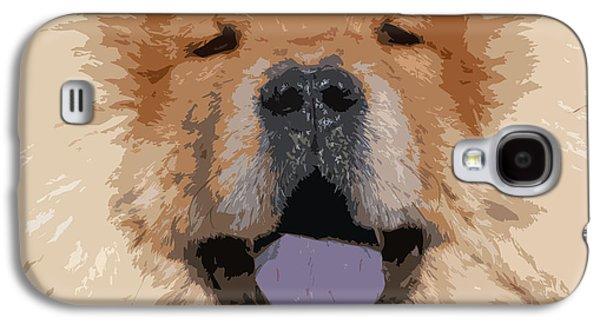 Puppy Digital Galaxy S4 Cases - Chow Chow Galaxy S4 Case by Nancy Merkle