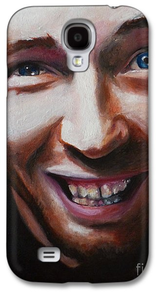Coldplay Paintings Galaxy S4 Cases - Chris Martin from Coldplay Galaxy S4 Case by Rachel Elliott