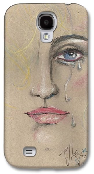 Tear Drawings Galaxy S4 Cases - Chris Galaxy S4 Case by P J Lewis