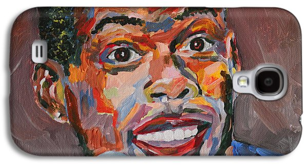 Nike Paintings Galaxy S4 Cases - Chris Rock Portrait Galaxy S4 Case by Robert Yaeger
