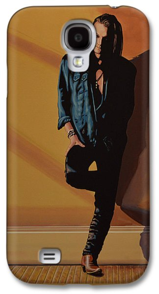 Songwriter Paintings Galaxy S4 Cases - Chris Whitley Galaxy S4 Case by Paul Meijering