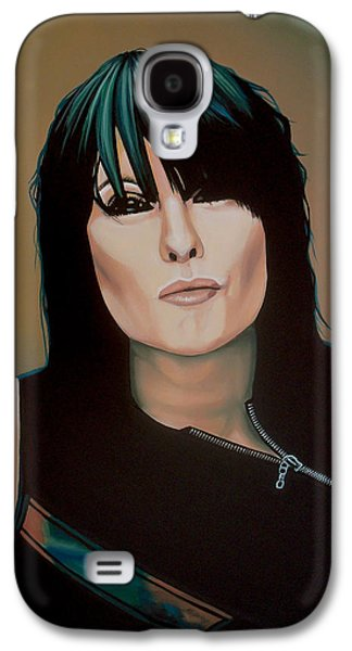 Chrissie Hynde Painting Galaxy S4 Case by Paul Meijering