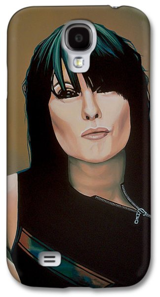 Realistic Art Paintings Galaxy S4 Cases - Chrissie Hynde Galaxy S4 Case by Paul  Meijering