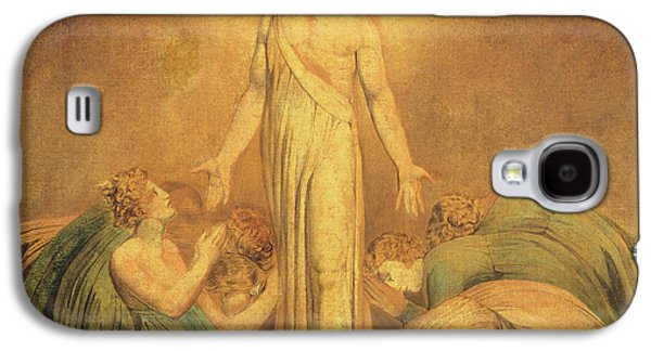 Worship Drawings Galaxy S4 Cases - Christ Appearing to the Apostles after the Resurrection Galaxy S4 Case by William Blake