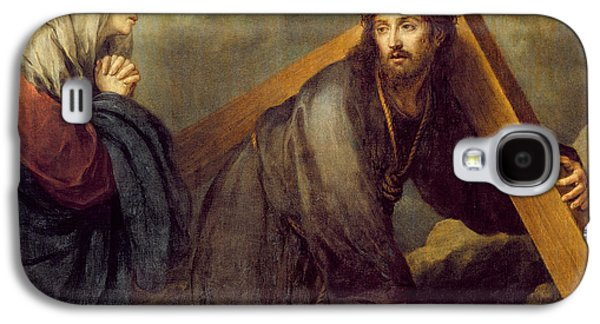 Sadness Paintings Galaxy S4 Cases - Christ at Calvary Galaxy S4 Case by Bartolome Esteban Murillo
