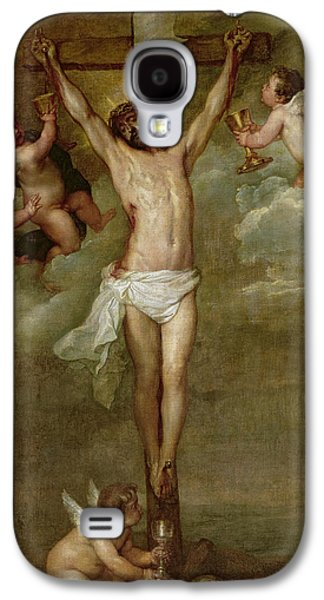 Christ Attended By Angels Holding Chalices Galaxy S4 Case by Peter Paul Rubens