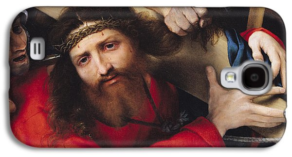 Calvary Galaxy S4 Cases - Christ Carrying The Cross, 1526 Oil On Canvas Galaxy S4 Case by Lorenzo Lotto